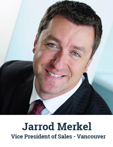 Jarrod Merkel, vice president of sales, Vancouver, headshot
